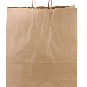 Case of 100 Small Kraft Thank You Paper Shopping Bags 5L X 3.5D X 8.25H